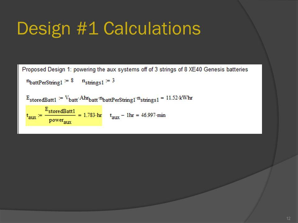 Design #1 Calculations 12
