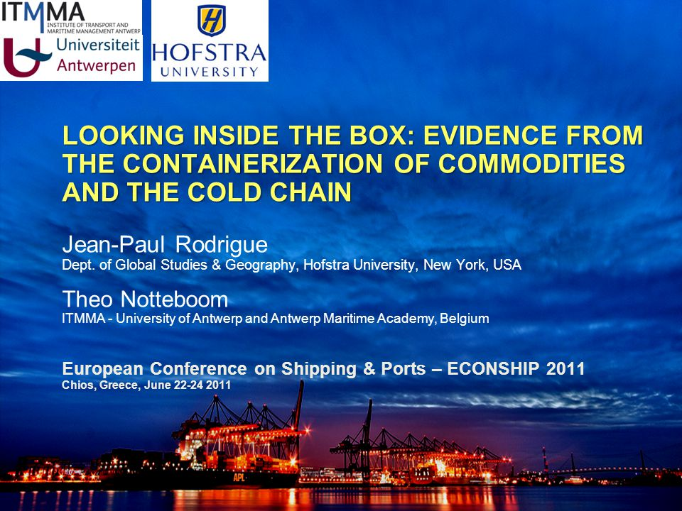 The Charthouse Group CONTAINERIZED COMMODITIES AND COLD CHAINS