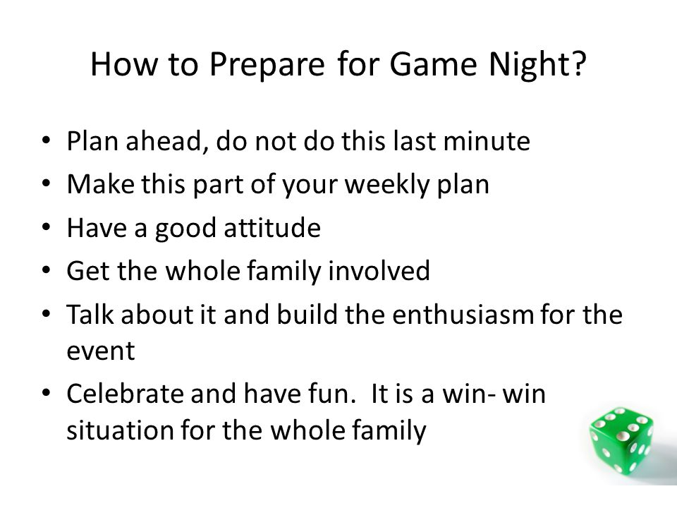 How to Prepare for Game Night.