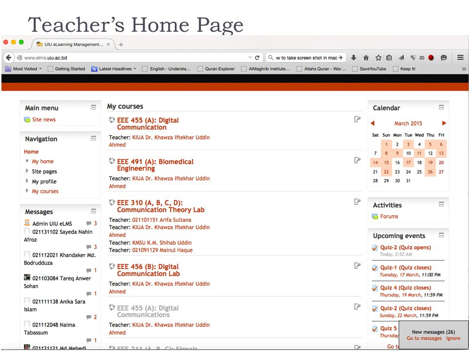 Teacher's Home Page
