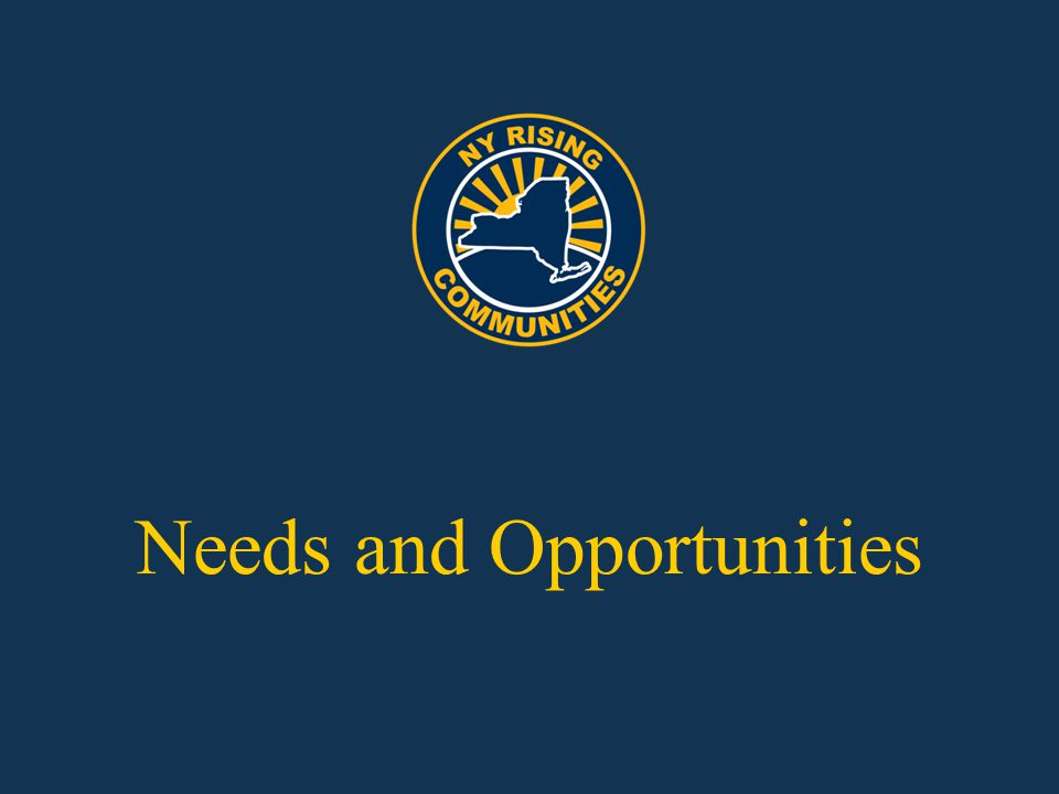 Needs and Opportunities