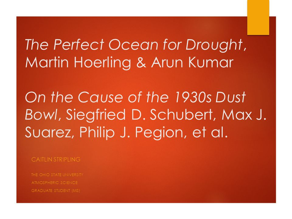 Summary of Results  Widespread mid-latitude drought strongly determined by tropical oceans.