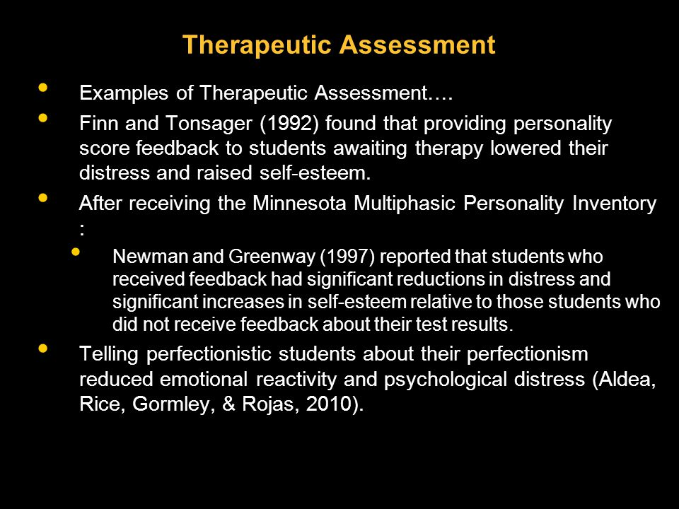 Therapeutic Assessment Examples of Therapeutic Assessment….