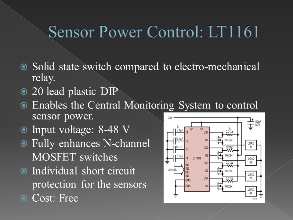  Solid state switch compared to electro-mechanical relay.