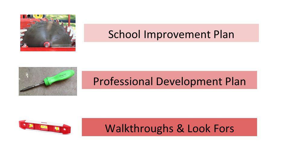 School Improvement Plan Professional Development Plan Walkthroughs & Look Fors