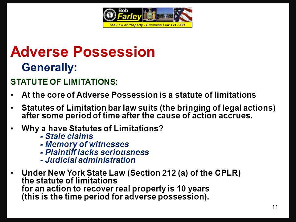 Adverse Possession 10