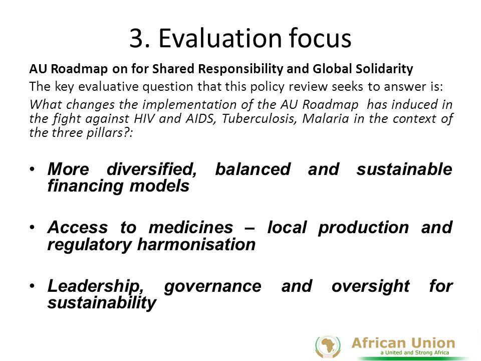 AU Roadmap: Country Level Indicators Pillar I: Diversified, balanced and sustainable financing models 1.