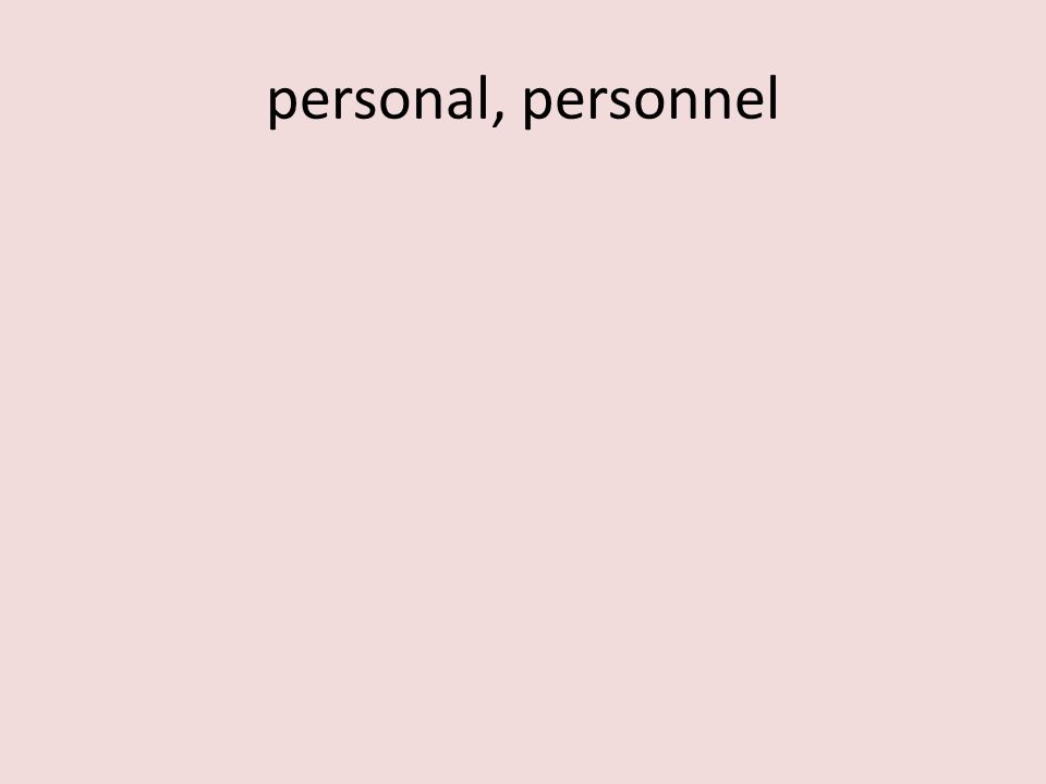 personal, personnel