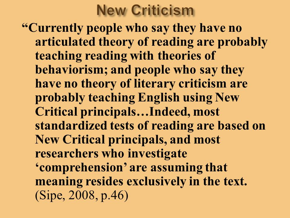 """""""Currently people who say they have no articulated theory of reading are probably teaching reading with theories of behaviorism; and people who say th"""