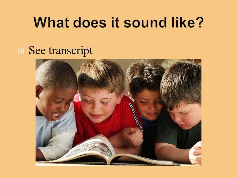  See transcript