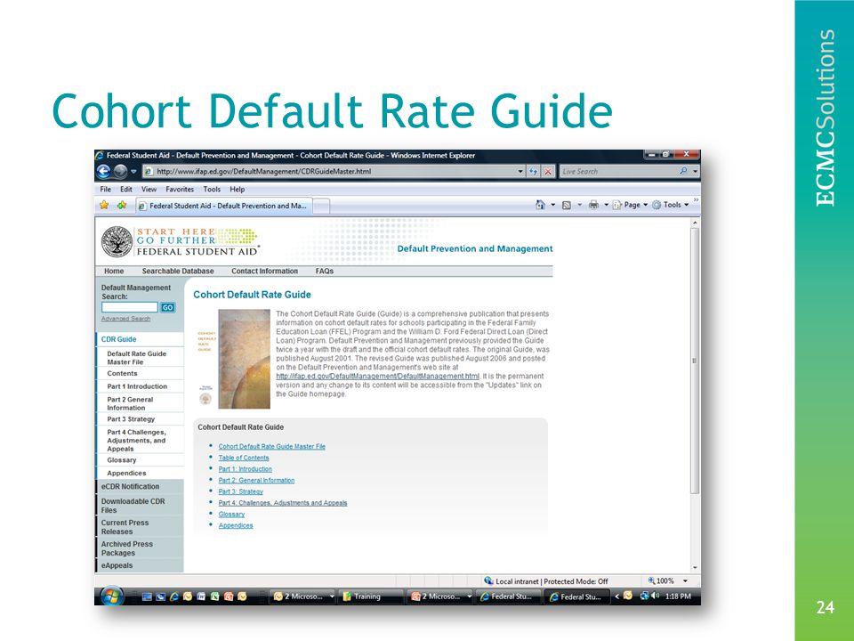 24 Cohort Default Rate Guide