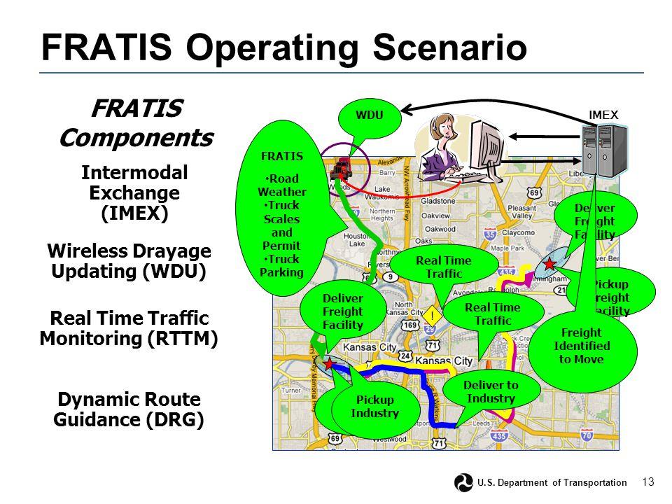13 U.S. Department of Transportation FRATIS Operating Scenario WDU .