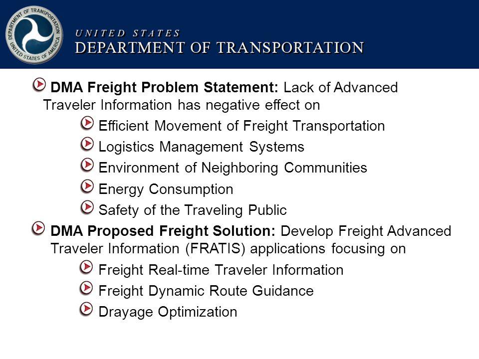 13 U.S.Department of Transportation FRATIS Operating Scenario WDU .