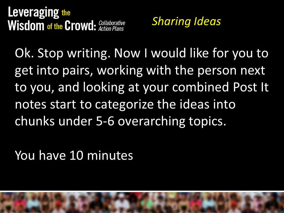 Ok. Stop writing.