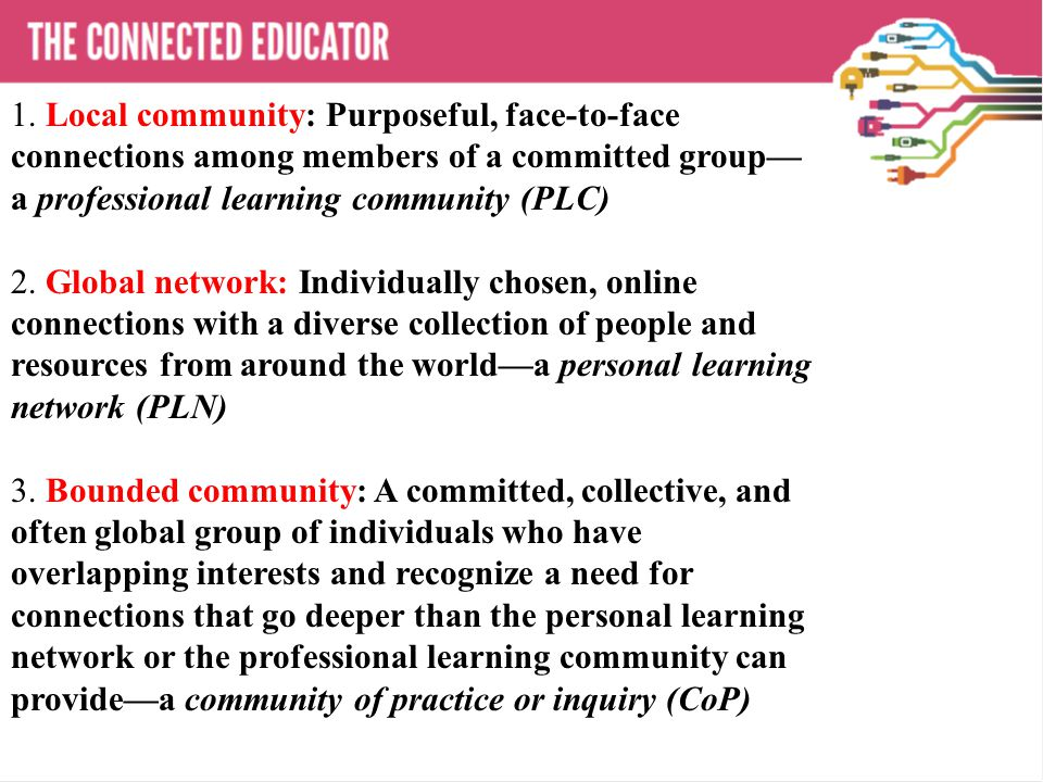 THE CONNECTED EDUCATOR 1.