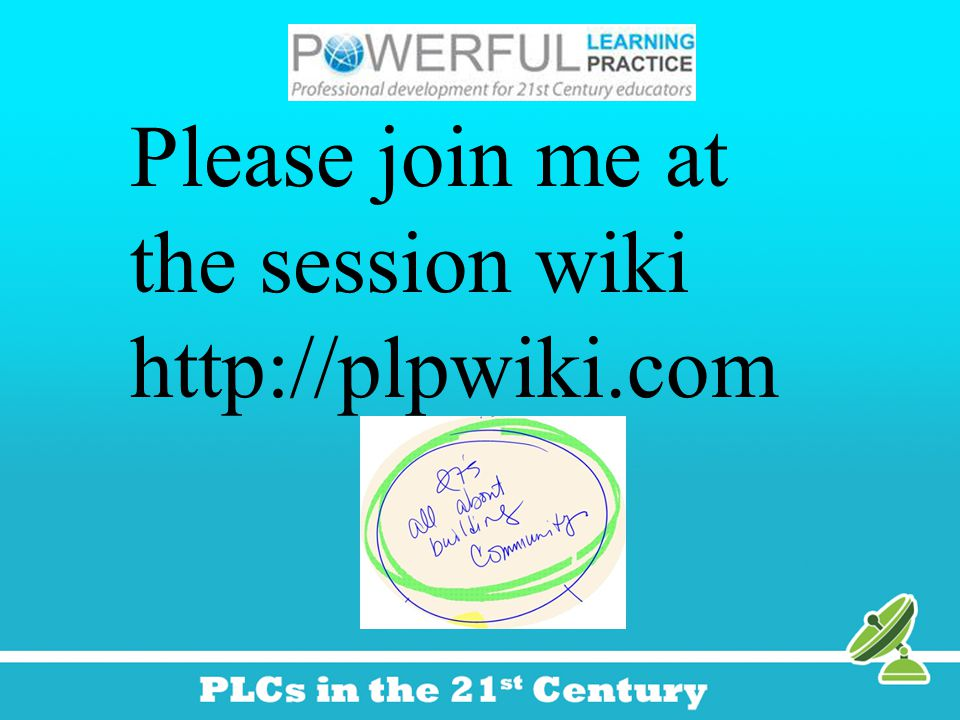 Please join me at the session wiki http://plpwiki.com
