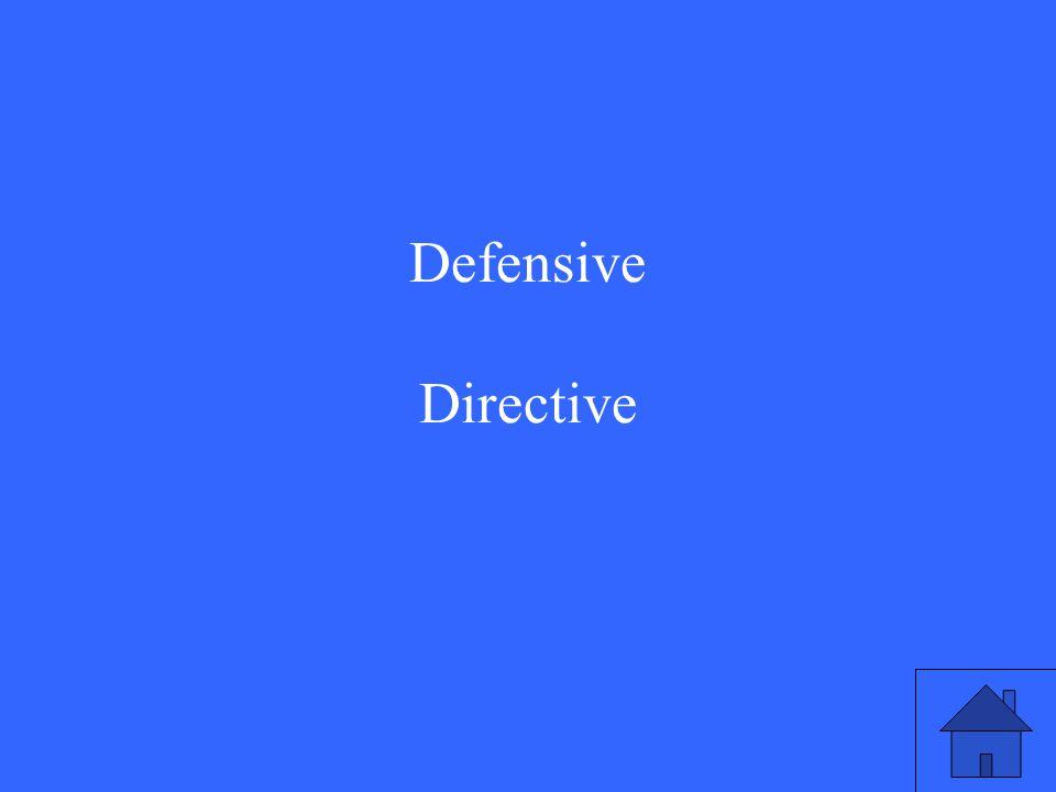 Defensive Directive