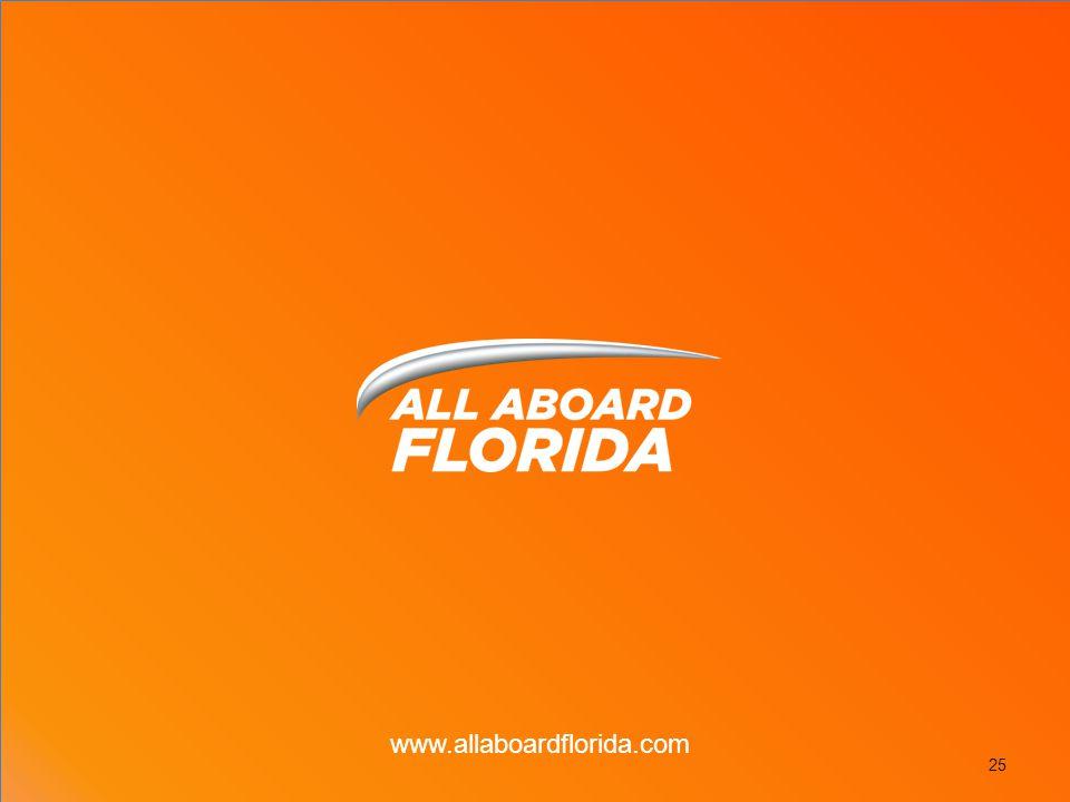 25 www.allaboardflorida.com
