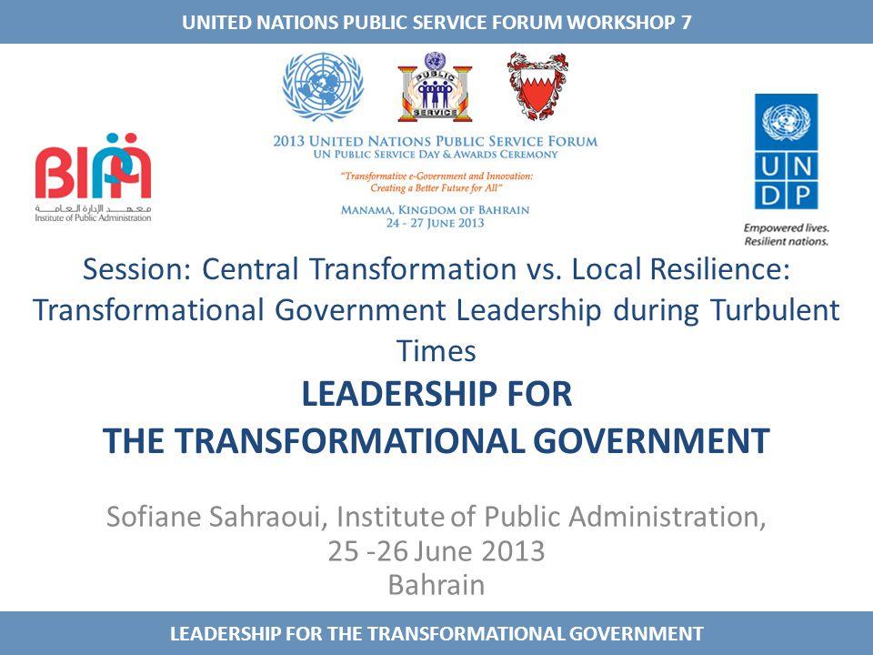 Session: Central Transformation vs.
