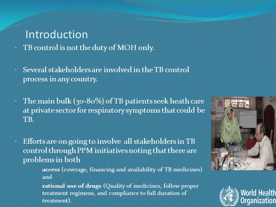 Introduction TB control is not the duty of MOH only.