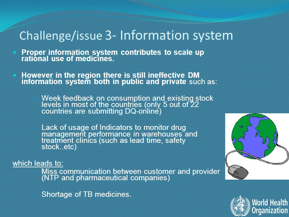 Initiatives Services of GDF/GLCChallenges in the region 1- uninterrupted supply of 1 st & 2 nd line medicines with (rational use) Not fully implemented.