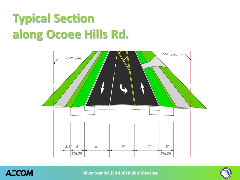 Silver Star Rd. (SR 438) Public Meeting Typical Section along Ocoee Hills Rd.