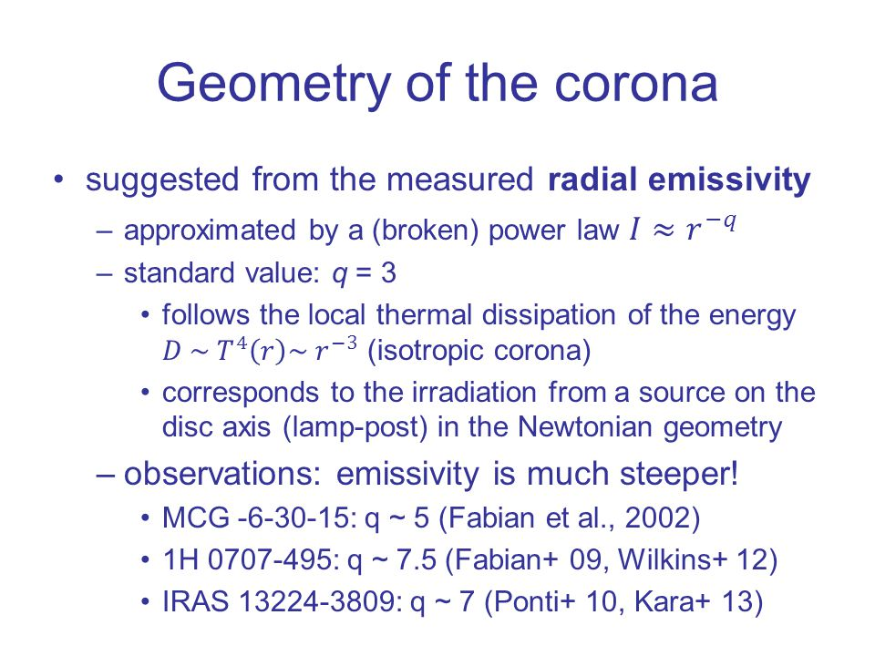 Geometry of the corona