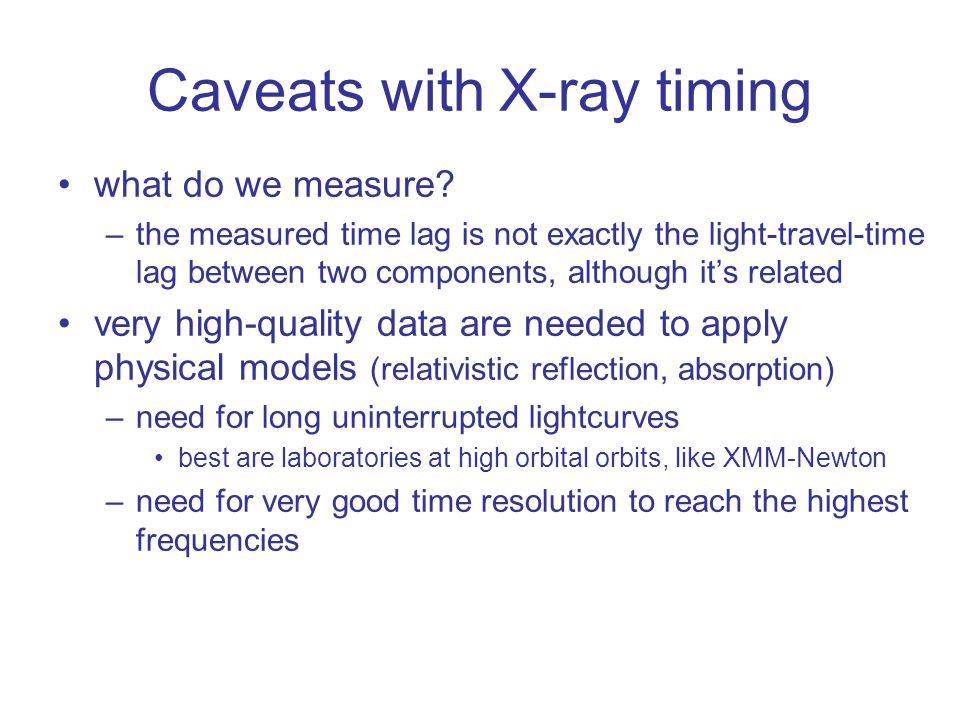Caveats with X-ray timing what do we measure.