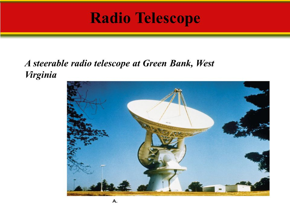 A steerable radio telescope at Green Bank, West Virginia Radio Telescope
