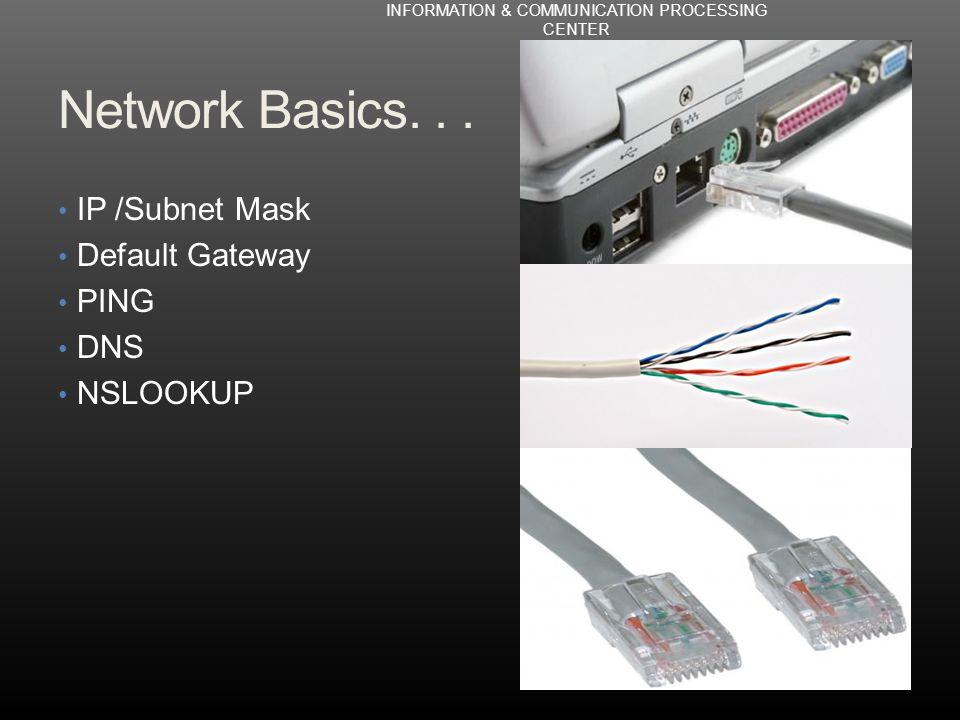 Network Basics...