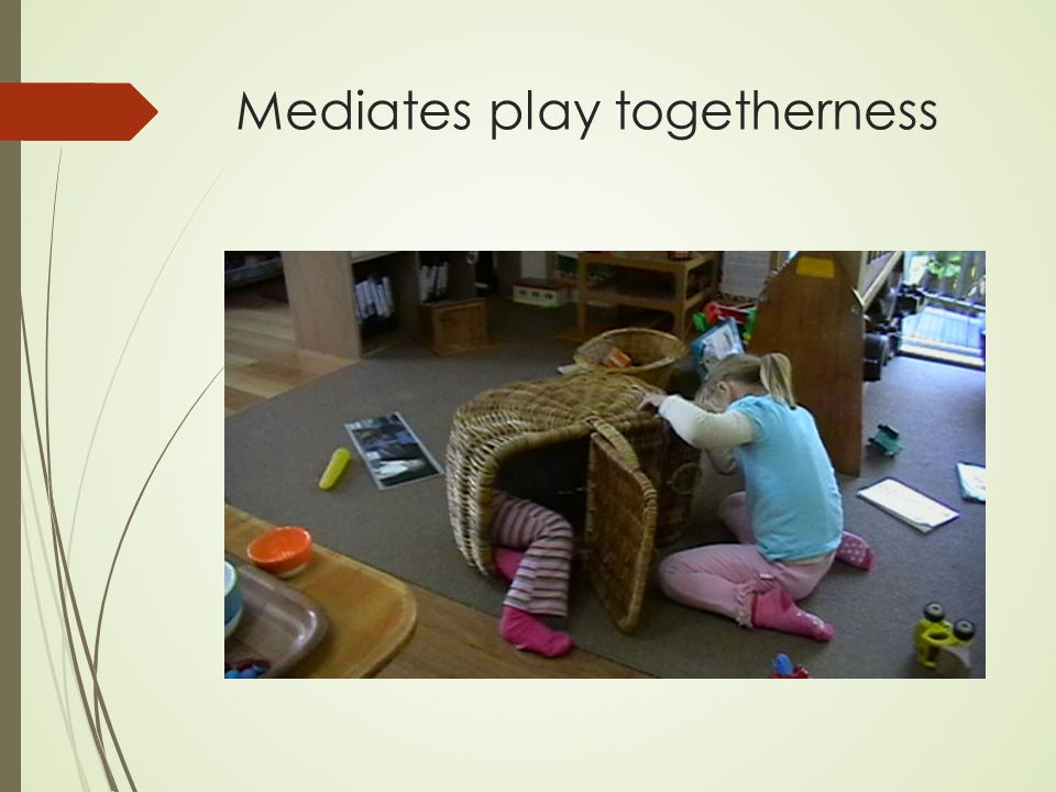 Mediates play togetherness