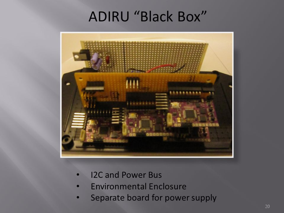 ADIRU Black Box I2C and Power Bus Environmental Enclosure Separate board for power supply 20