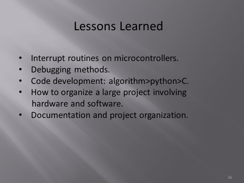 Lessons Learned Interrupt routines on microcontrollers.
