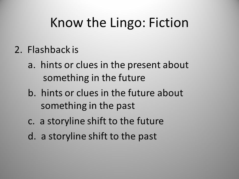 Know the Lingo: Poetry 25.What is the rhyme scheme of the following.