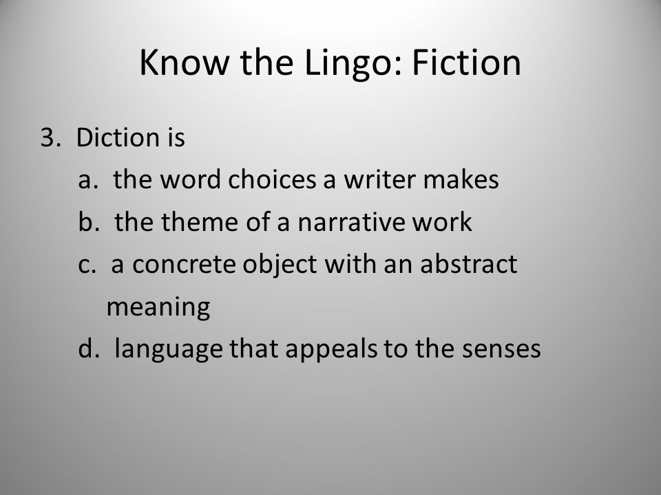 Know the Lingo: Poetry 26.Which type of figurative language is being used.