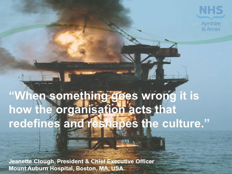 """""""When something goes wrong it is how the organisation acts that redefines and reshapes the culture."""" Jeanette Clough, President & Chief Executive Offi"""