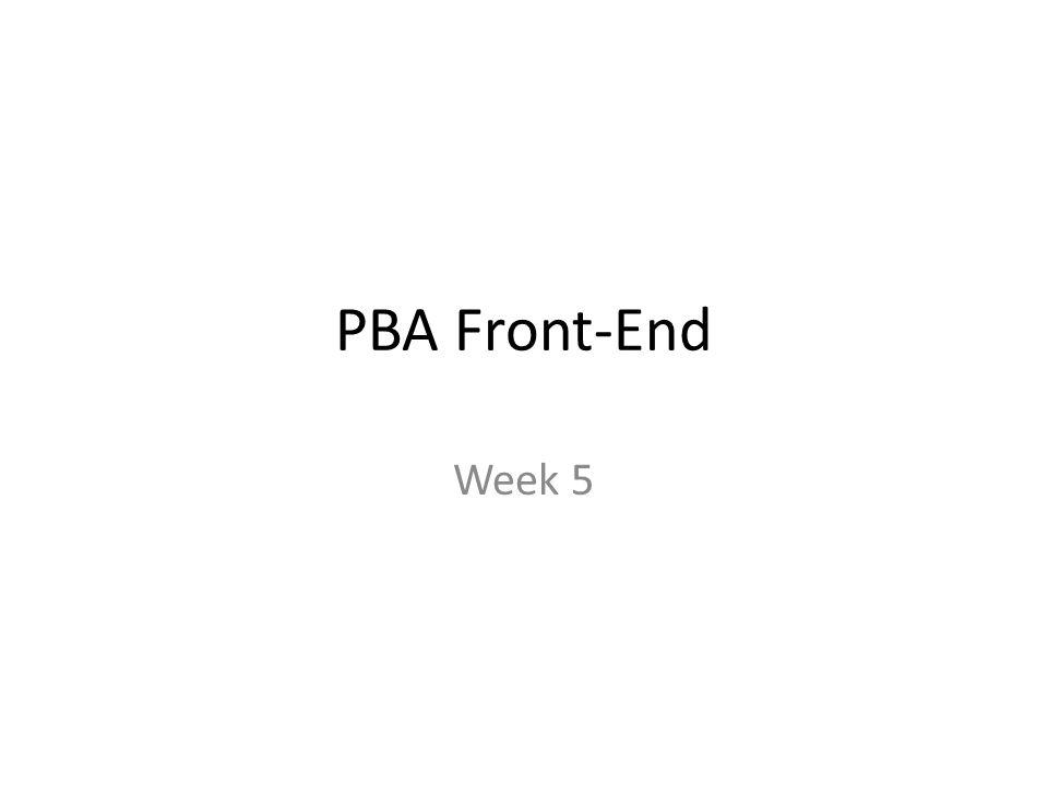 PBA Front-End Week 5