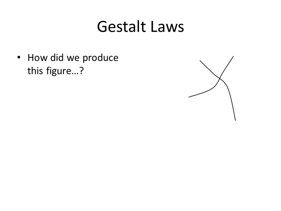 Gestalt Laws How did we produce this figure…?