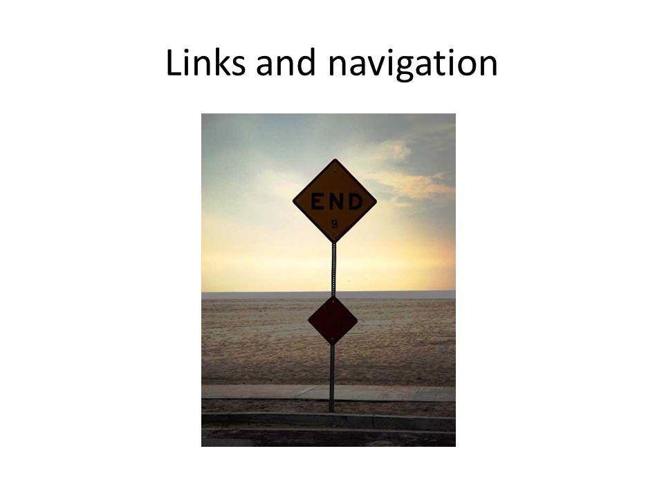 Links and navigation