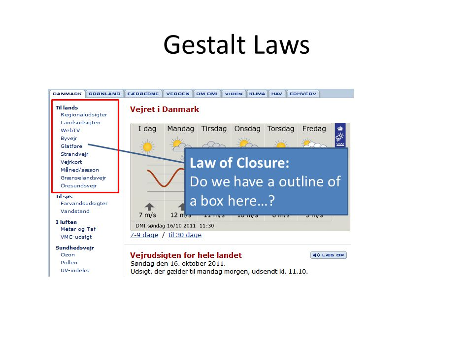 Gestalt Laws Law of Closure: Do we have a outline of a box here…?