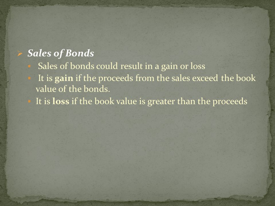  Purchase of Bonds  Investment account for the purchase price of the bond are debited in recording purchase of bonds.