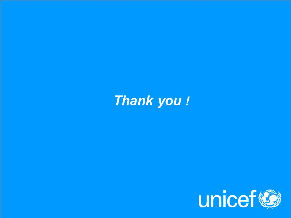 UNICEFType your title in this FOOTER area and in CAPS Thank you !