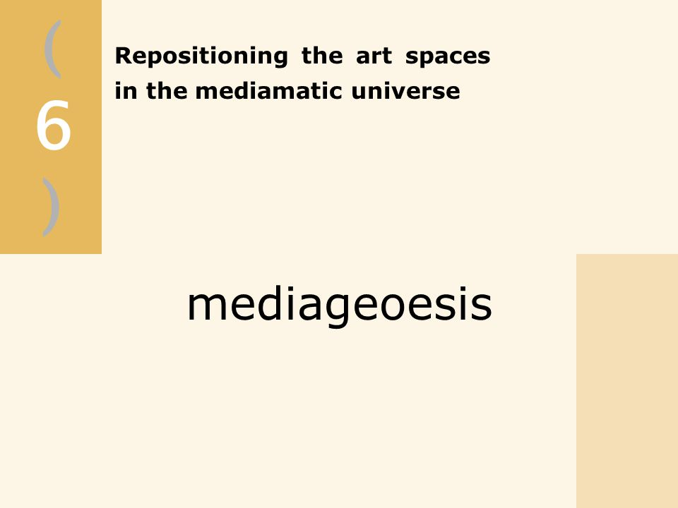 (6)(6) mediageoesis