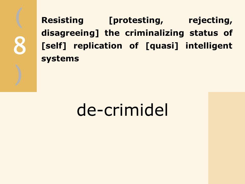 (8)(8) de-crimidel
