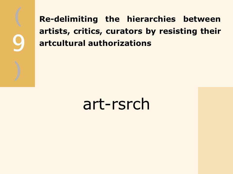 (9)(9) art-rsrch