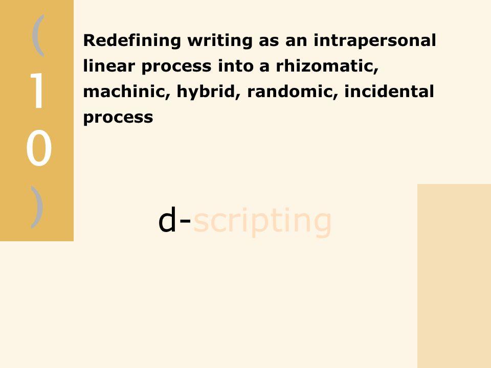 (10)(10) d-scripting