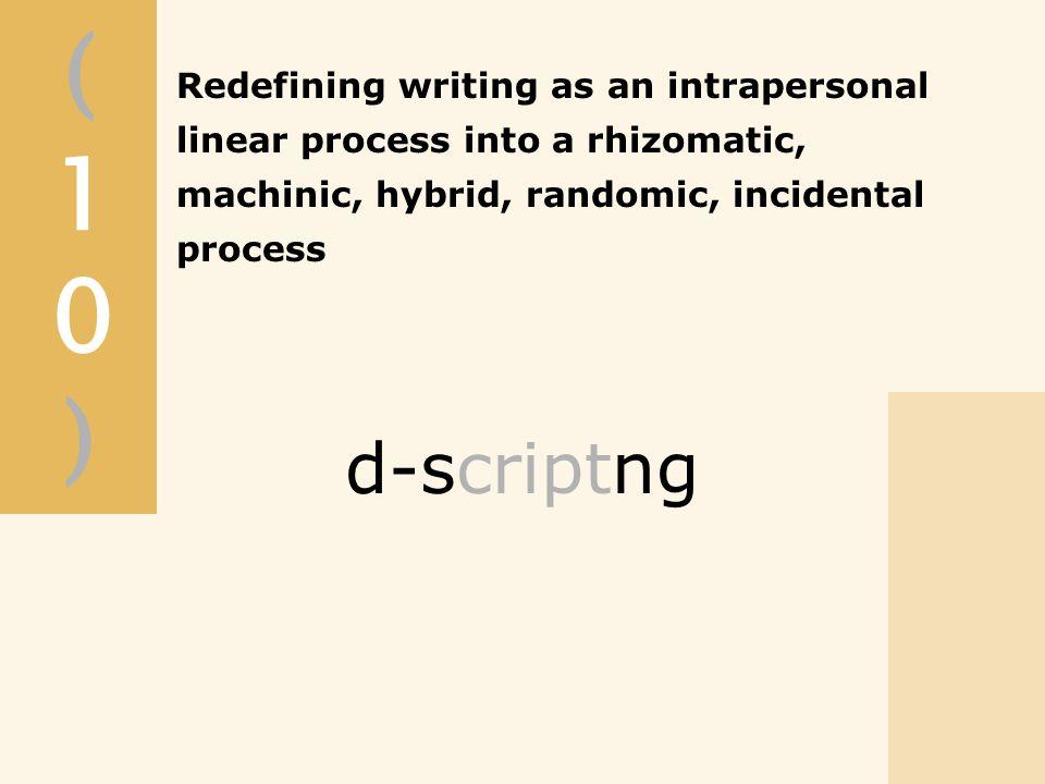 (10)(10) d-scriptng