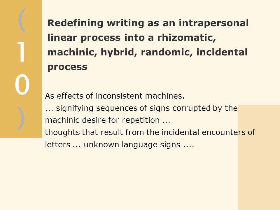 (10)(10) As effects of inconsistent machines....