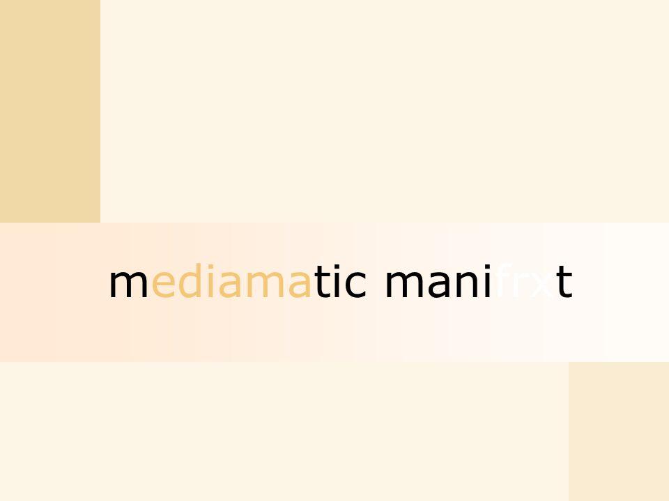 mediamatic manifrxt