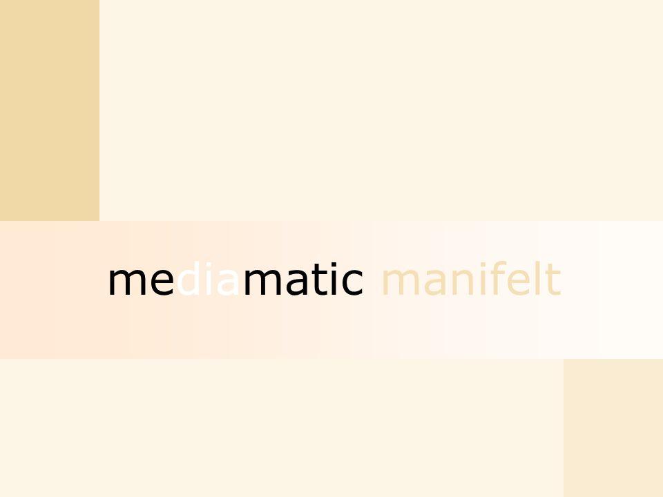 mediamatic manifelt